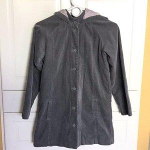 Gymboree girl's hooded peacoat jacket gray  L
